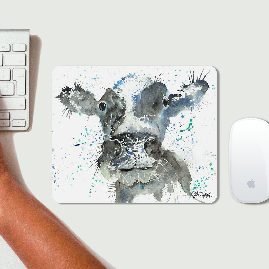 """Moo"" Cow Desk Mousemat"
