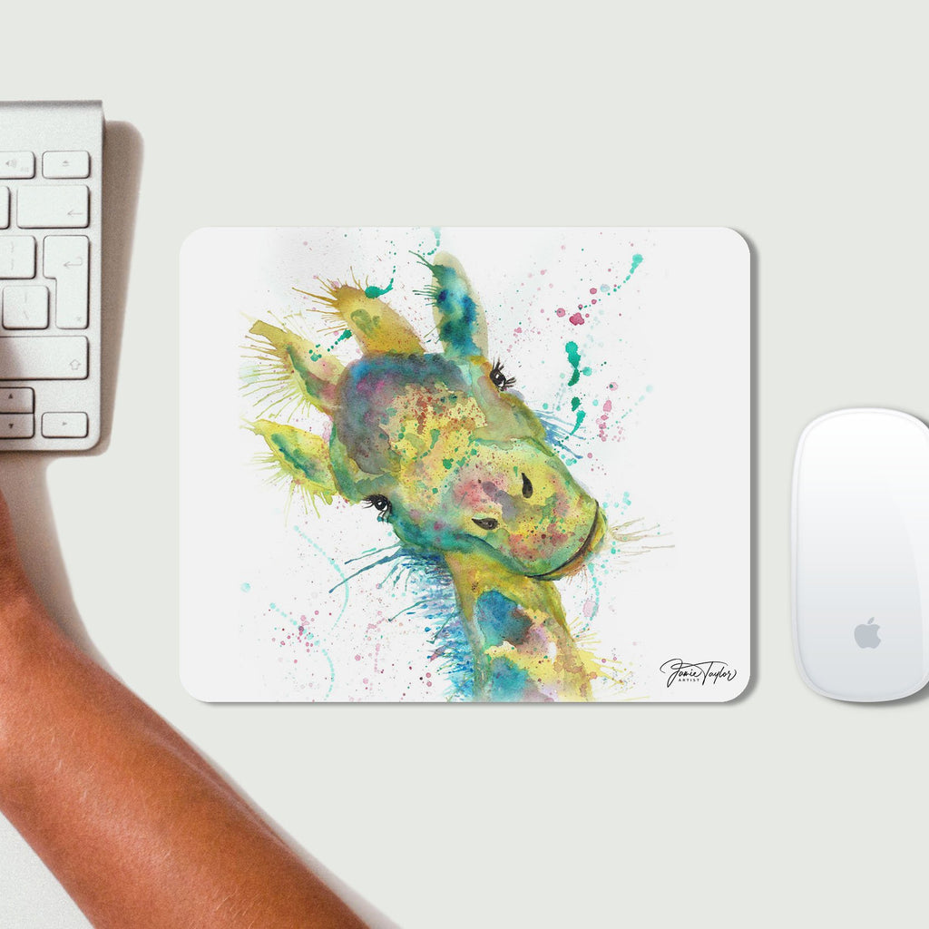 """Hattie"" Giraffe Desk Mousemat"
