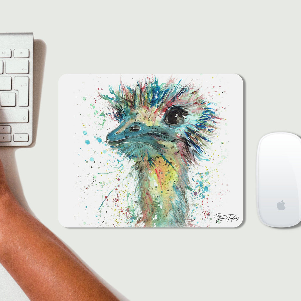 """Ethel"" Ostrich Desk Mousemat"