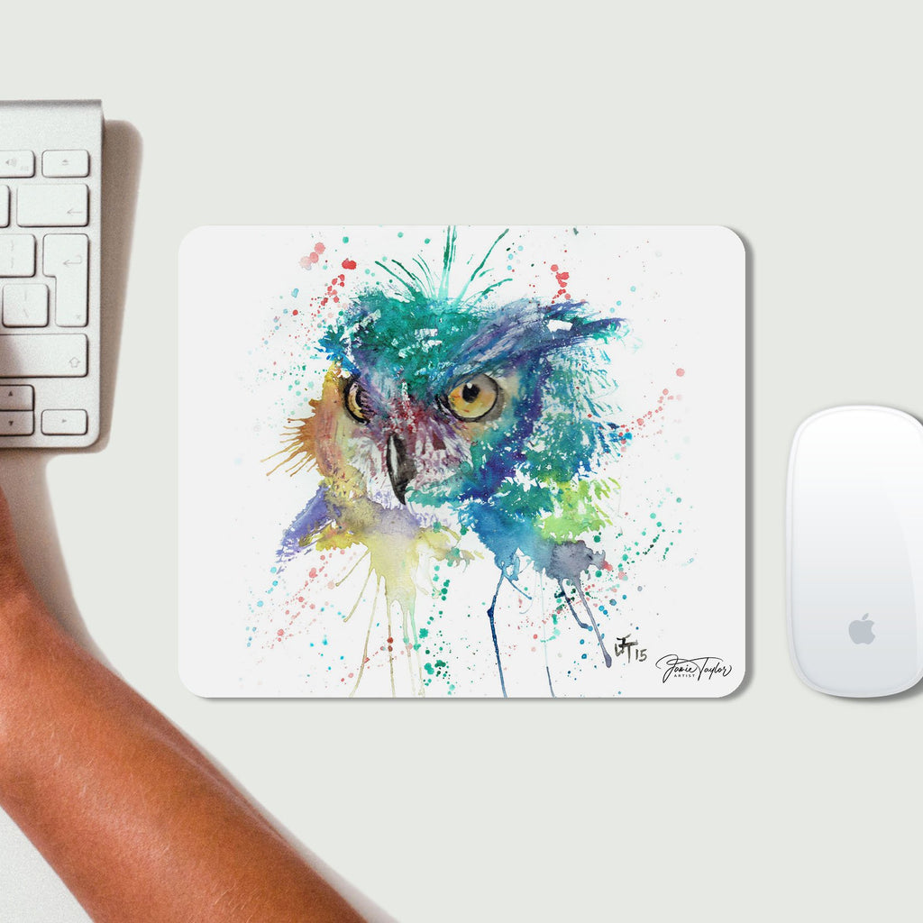 """Wise"" Owl Desk Mousemat"