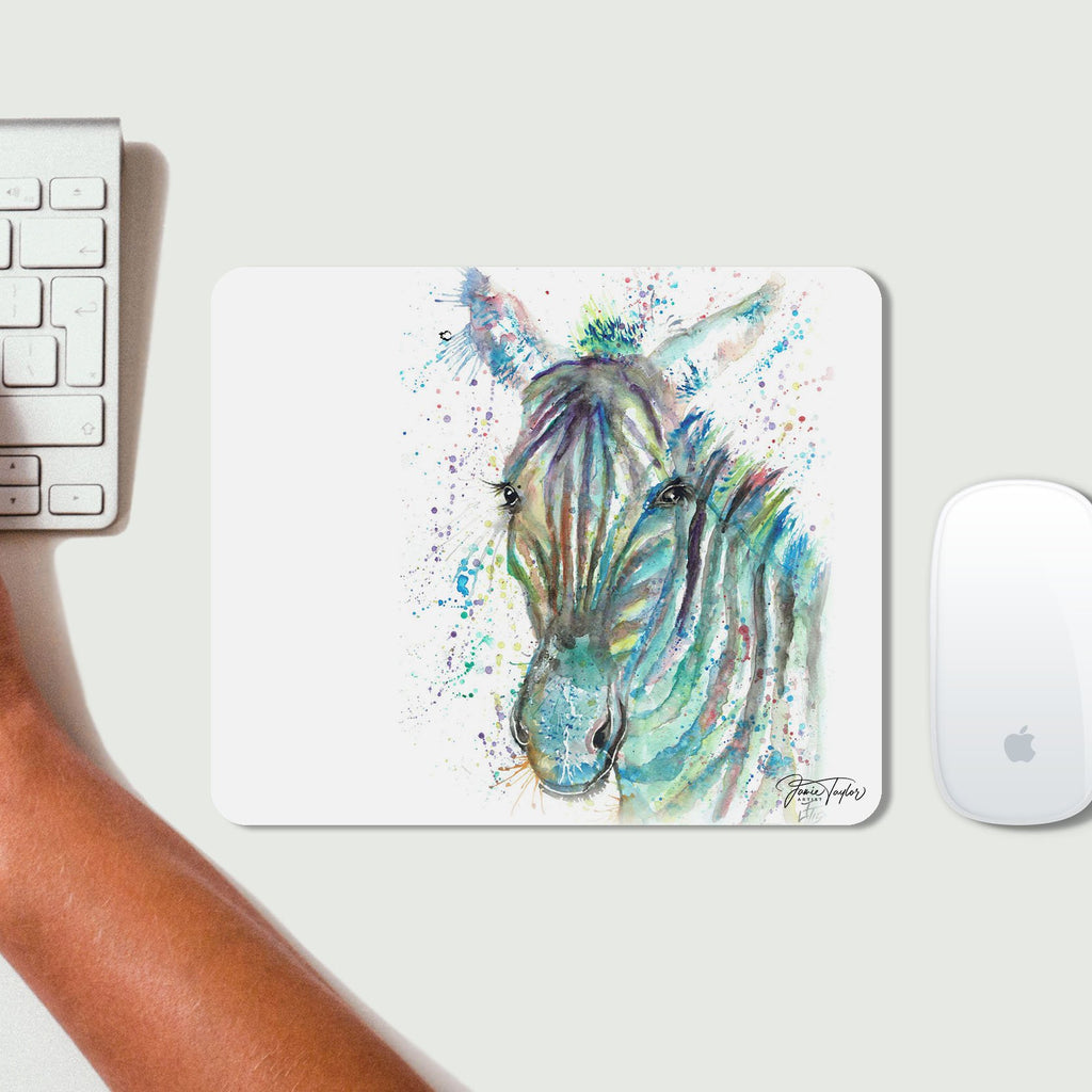 """Stripes"" Zebra Desk Mousemat"