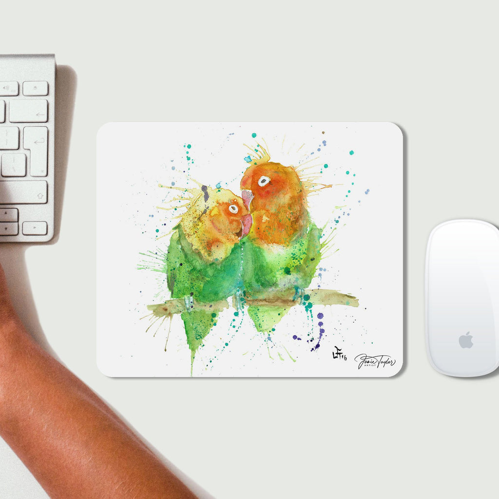 Love Birds Desk Mousemat