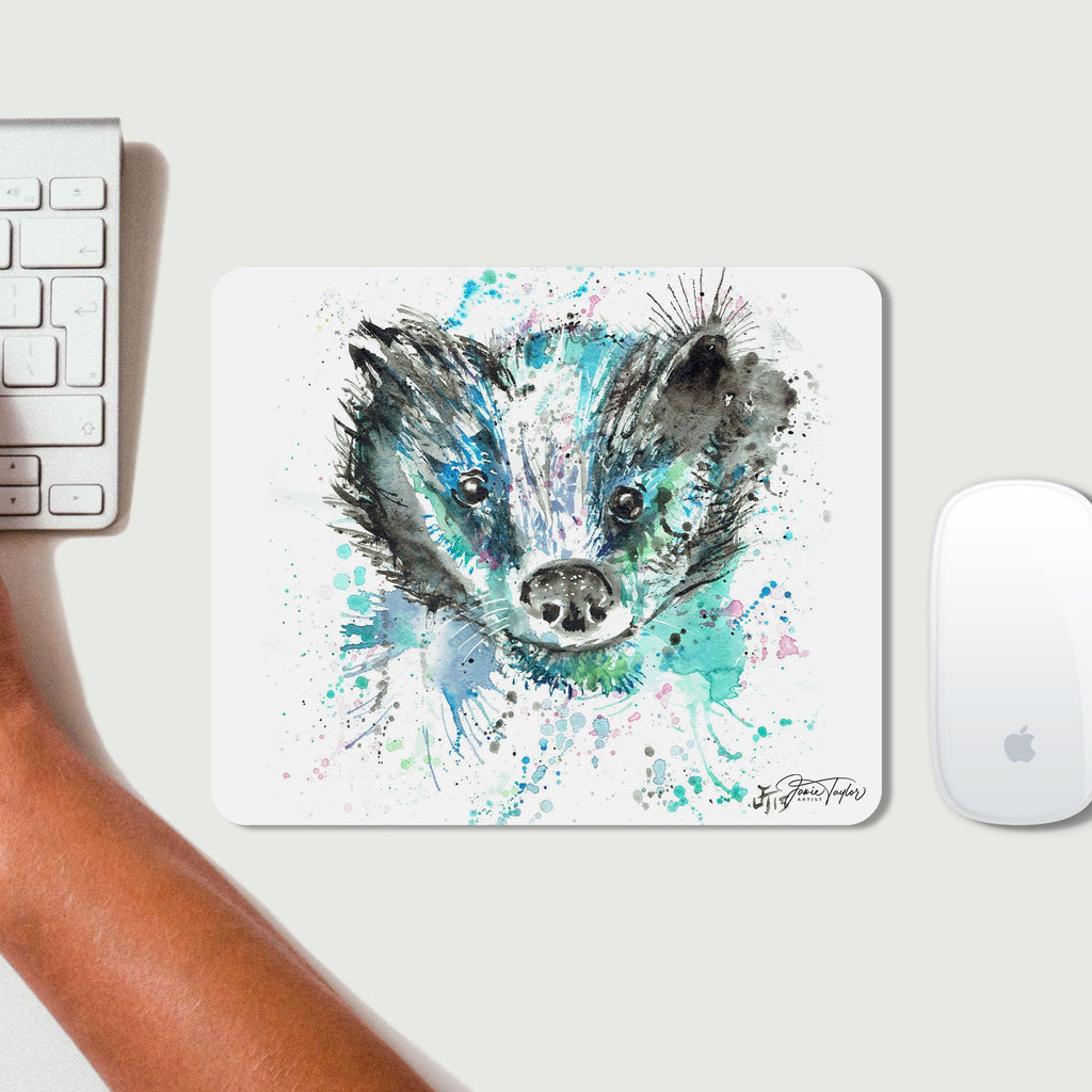 """Baz"" Badger Desk Mousemat"