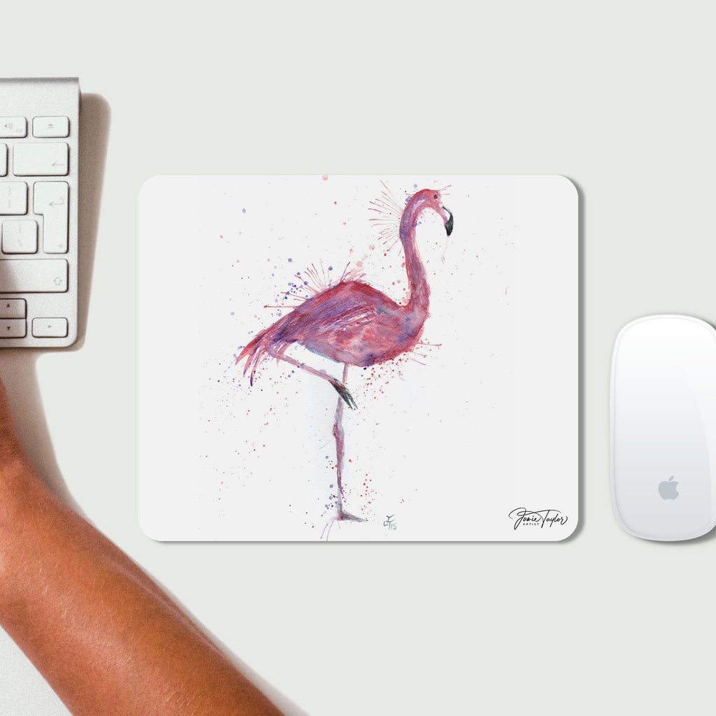 """Flo"" Flamingo Desk Mousemat"