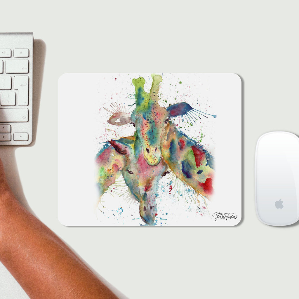 Love Giraffes Desk Mousemat