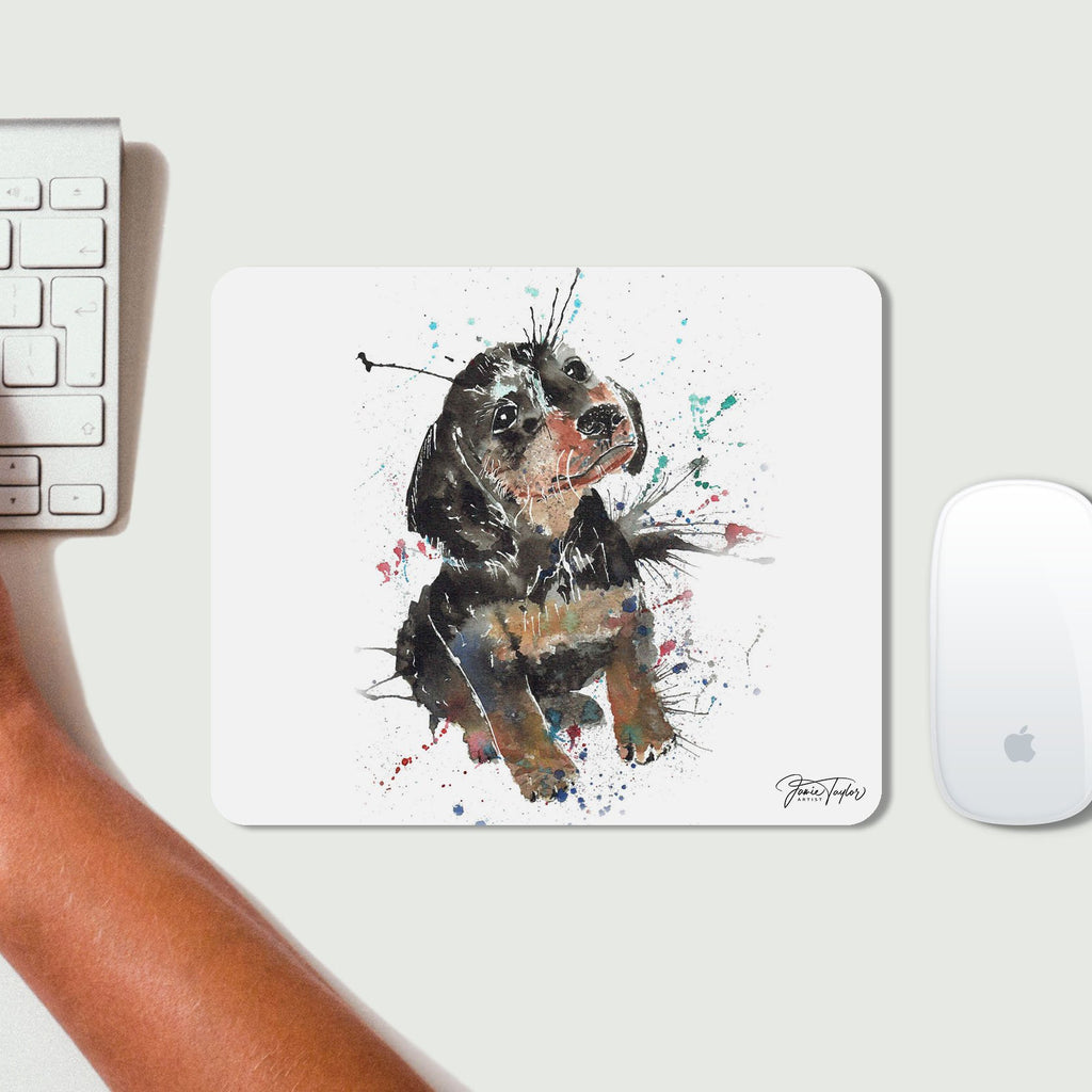 """Pierre"" Dachshund Desk Mousemat"