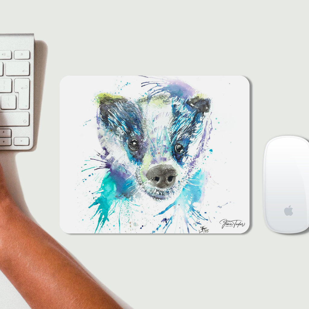"""Badge"" Badger Desk Mousemat"