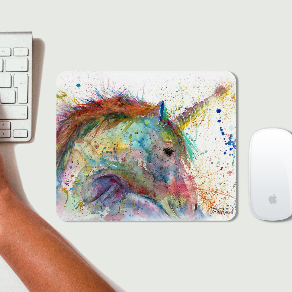 """Swirl"" Unicorn Desk Mousemat"