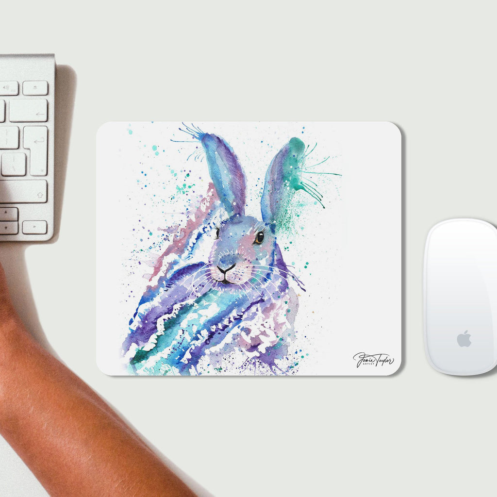 """Faraway"" Rabbit Desk Mousemat"