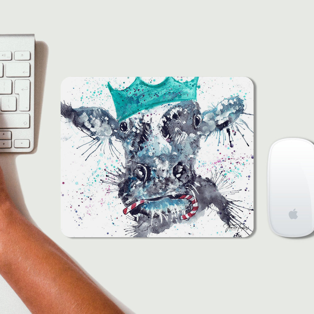 Christmas Moo Desk Mousemat