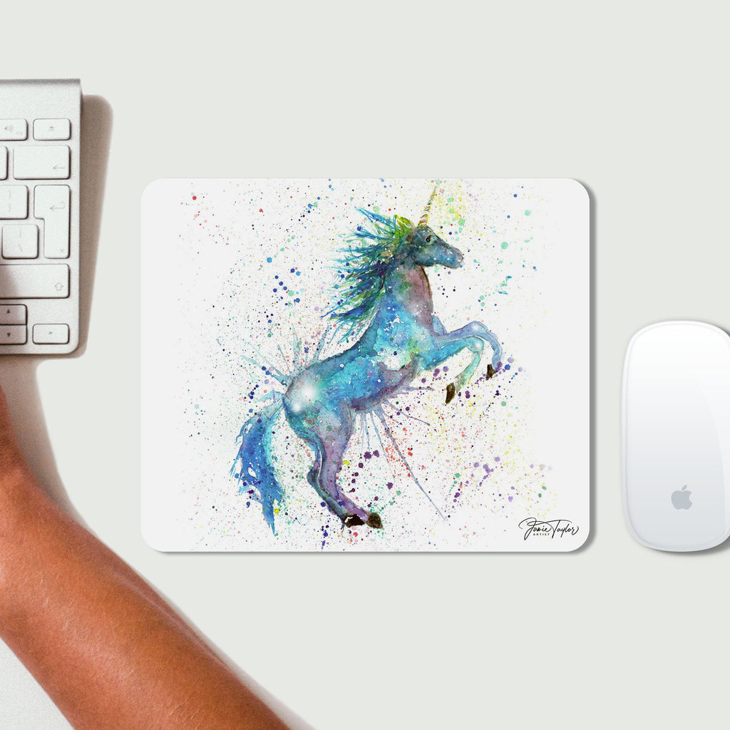 Blue Unicorn Mousemat
