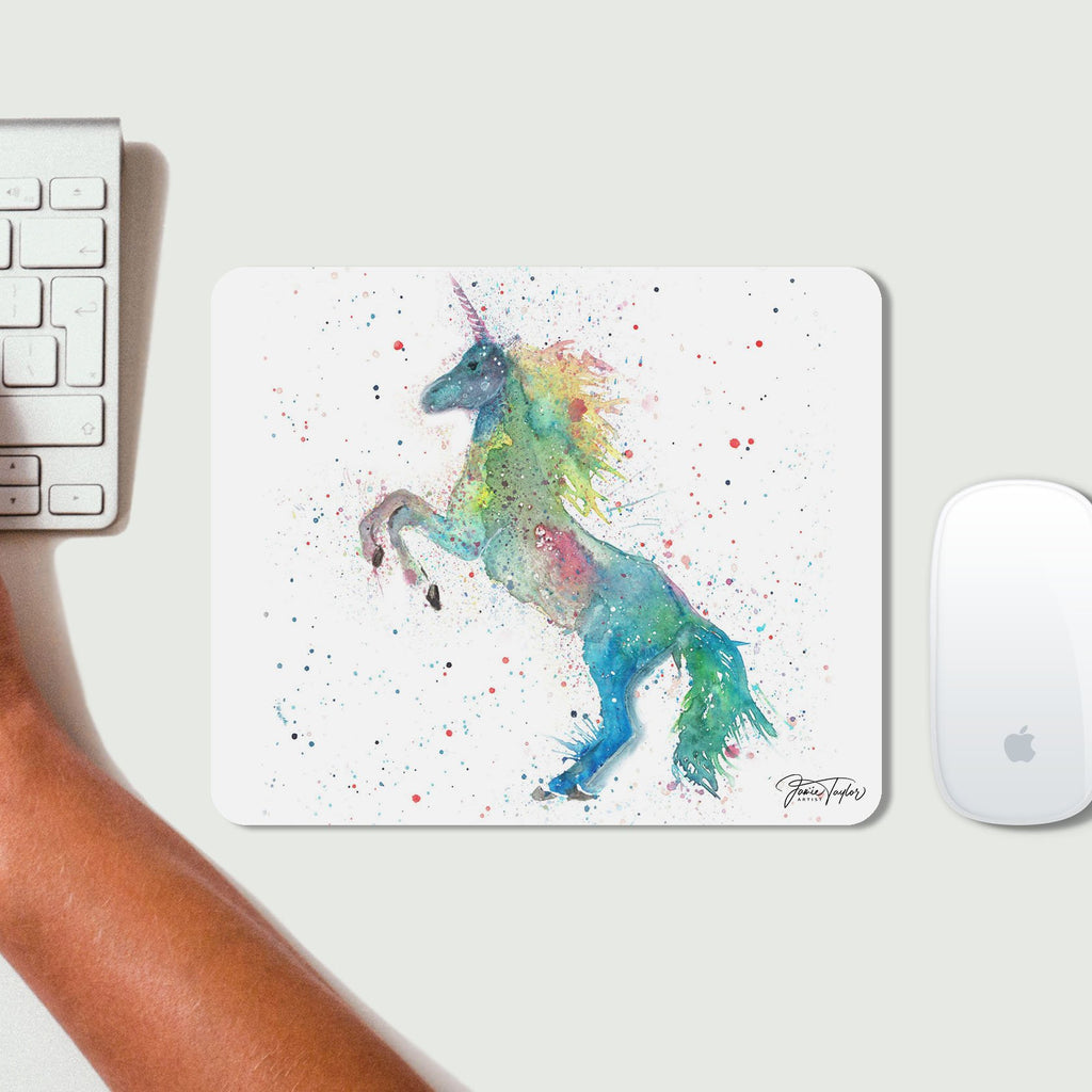 Rainbow Unicorn Desk Mousemat