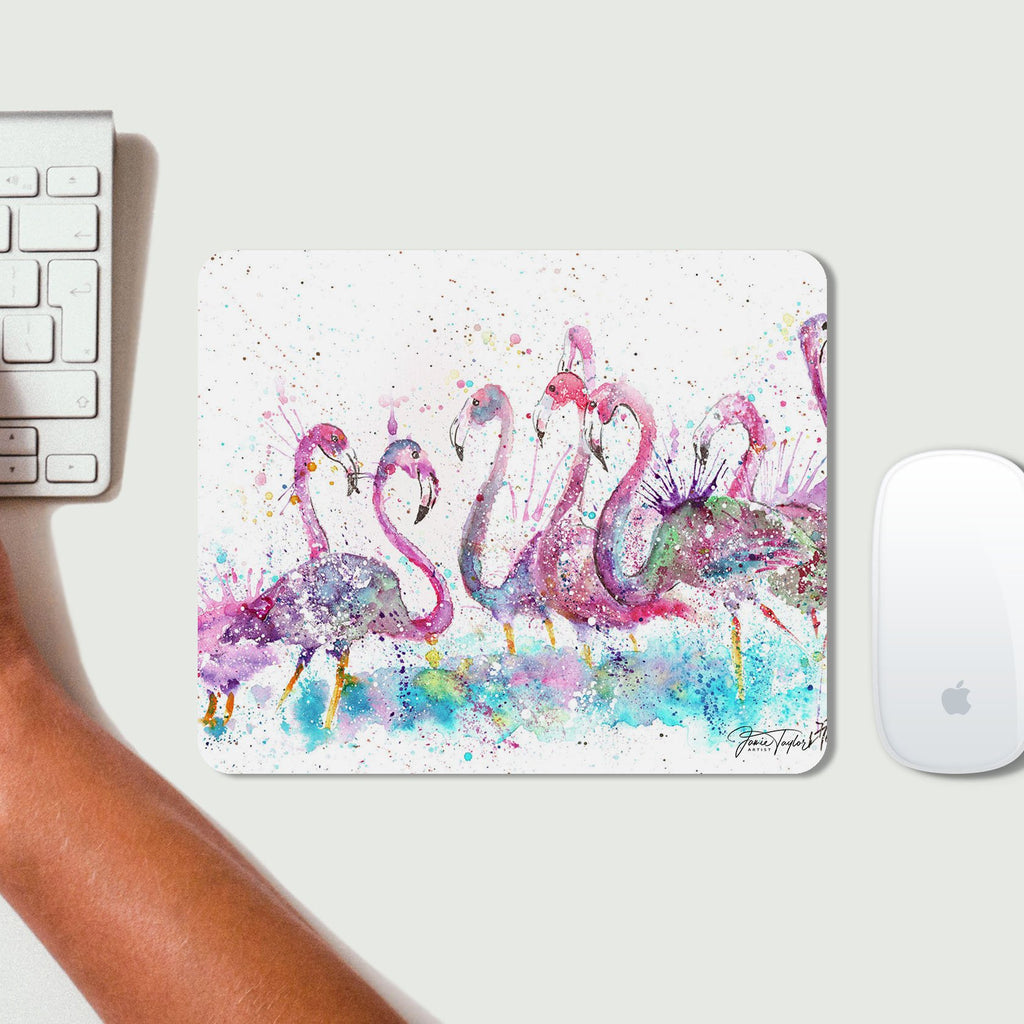 """Flamboyance"" Flamingos Desk Mousemat"