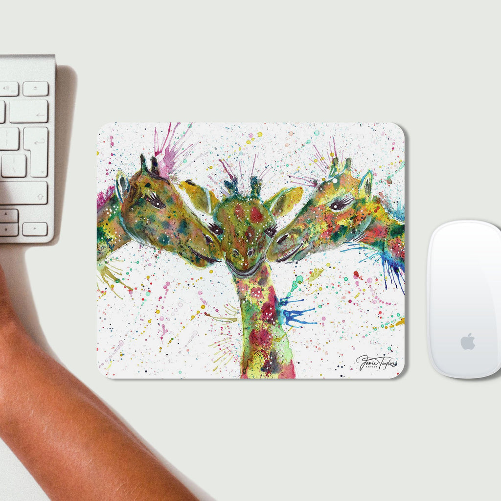 """Together"" Giraffes Desk Mousemat"