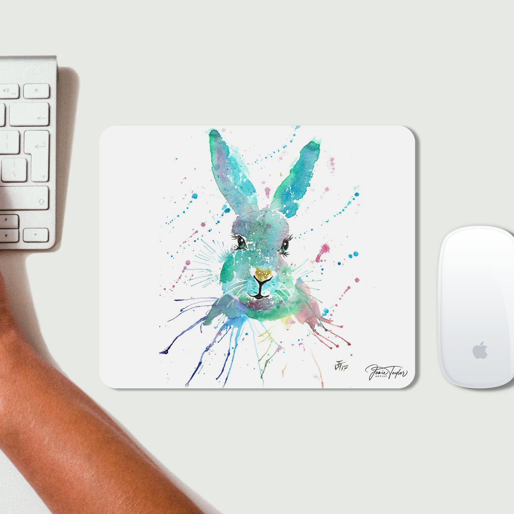 """Minty"" Hare Desk Mousemat"
