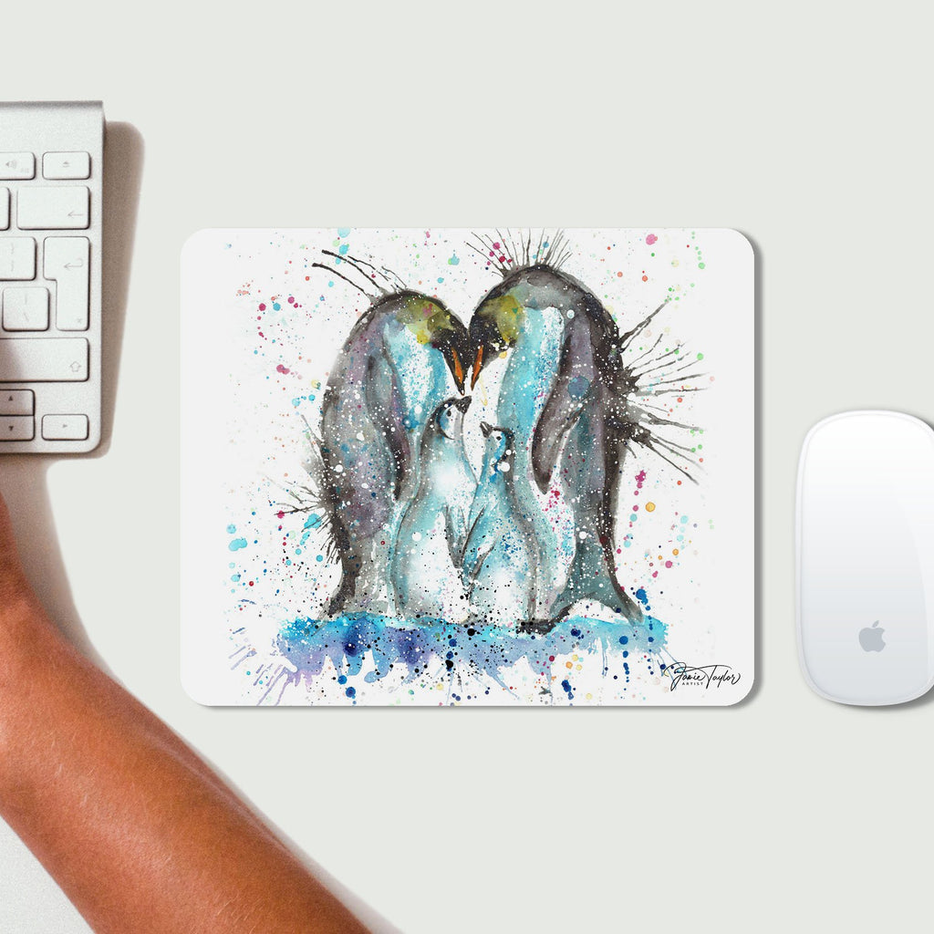 """Home"" Penguins Desk Mousemat"