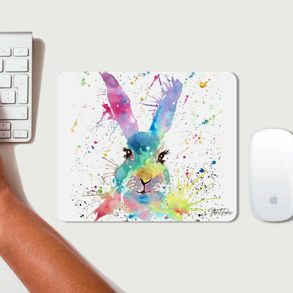 Summer Hare Desk Mousemat