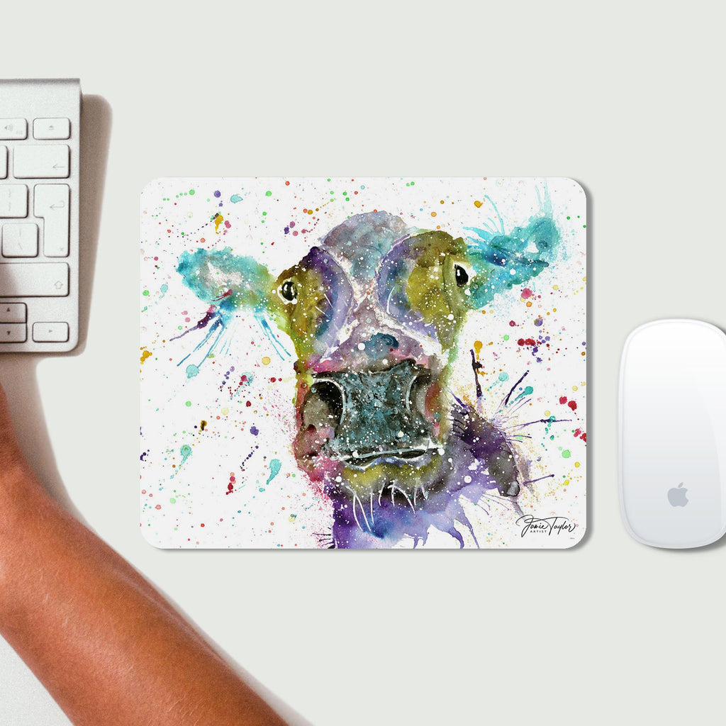 """Daisy"" Cow Desk Mousemat"
