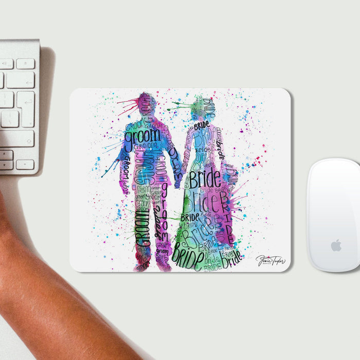 Bride and Groom (Pink) Mousemat