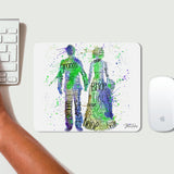 Bride and Groom (Green) Mousemat