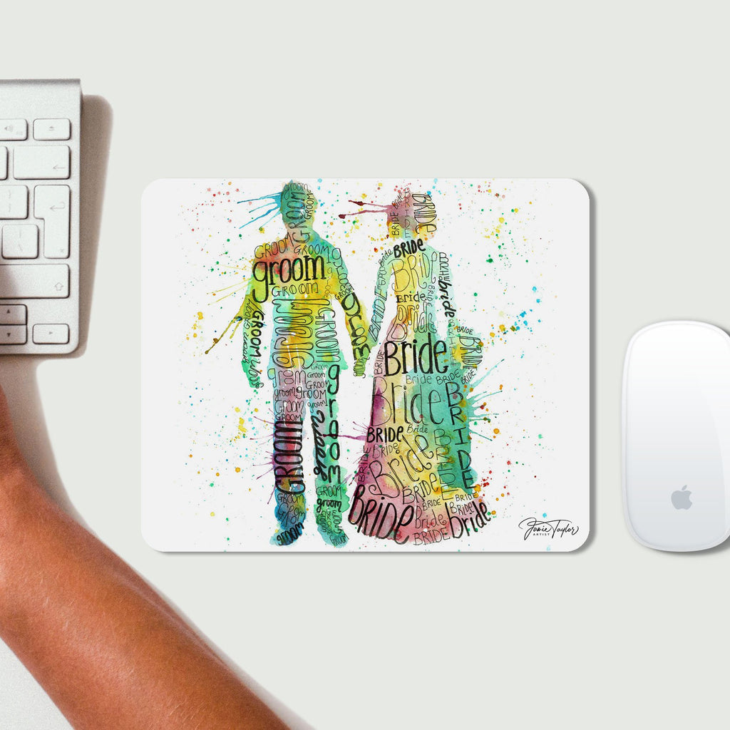Bride & Groom Desk Mousemat