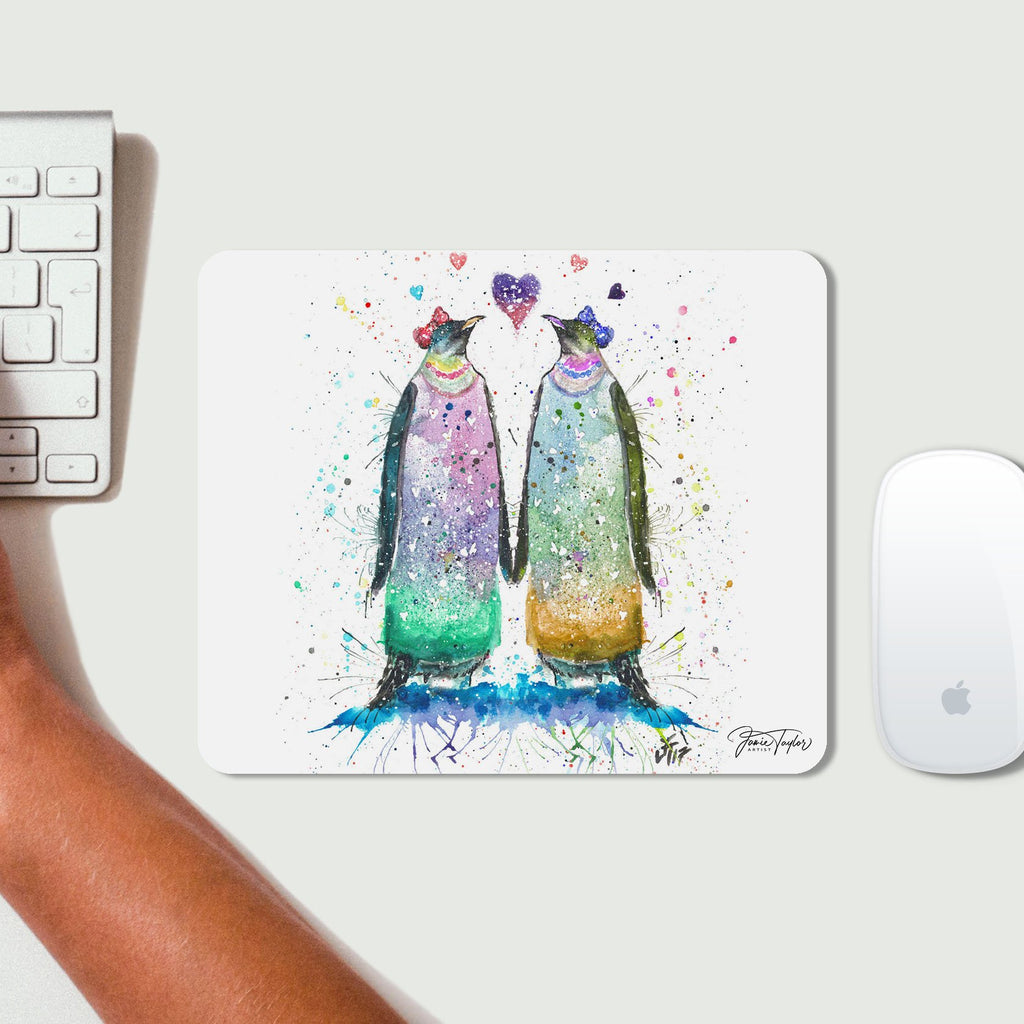 Lady Penguins Desk Mousemat