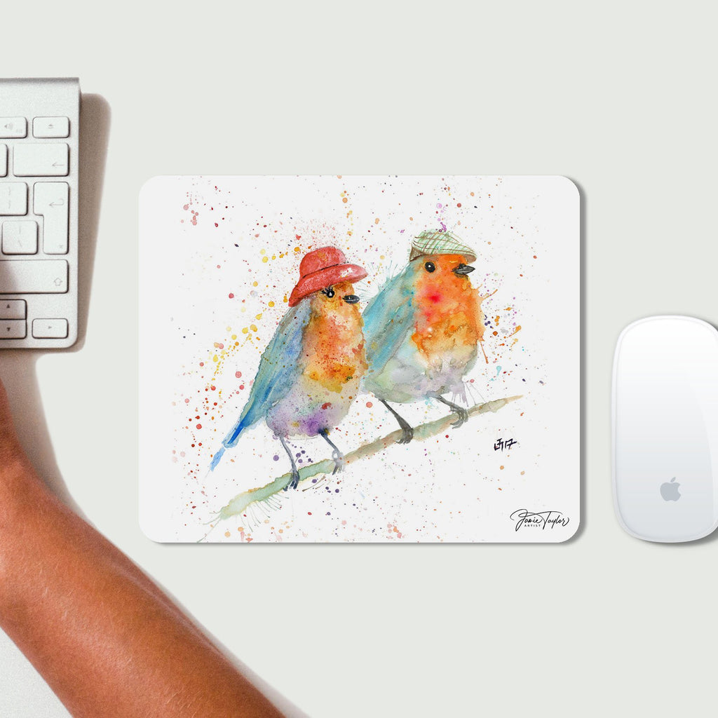 Mr & Mrs Robin Desk Mousemat