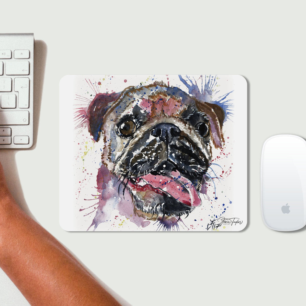 """Ronnie"" Pug Desk Mousemat"