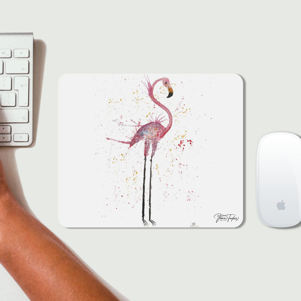 """Sheila"" Flamingo Desk Mousemat"