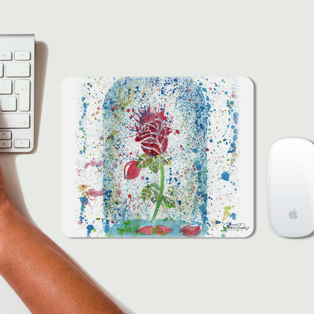 Magic Rose Desk Mousemat