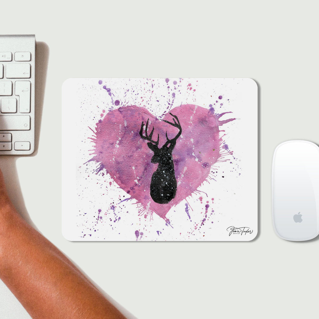 Stag Heart Desk Mousemat