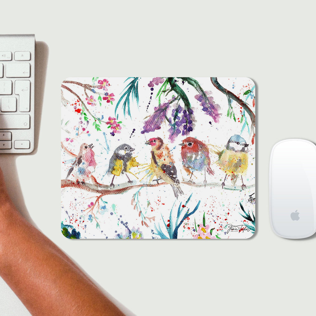 """Tree Friends"" Birds Desk Mousemat"