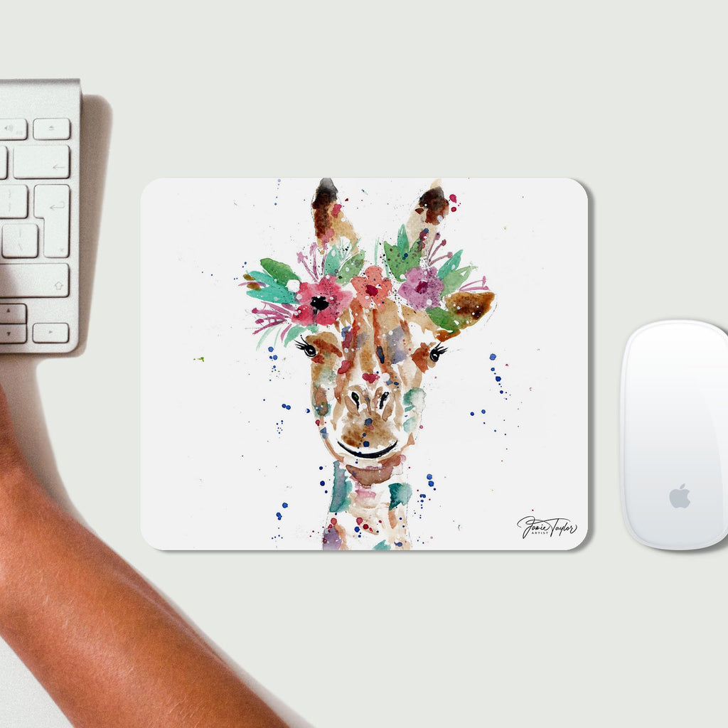 """Margot"" Giraffe Desk Mousemat"