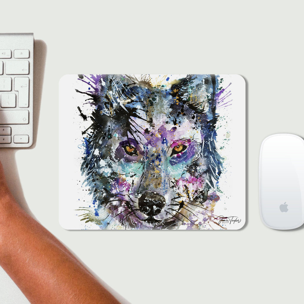 """Howl"" Wolf Desk Mousemat"