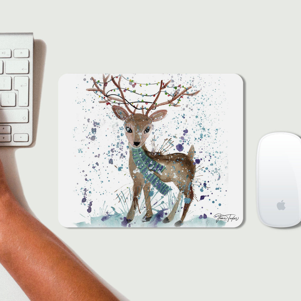 """Winter"" Deer Desk Mousemat"