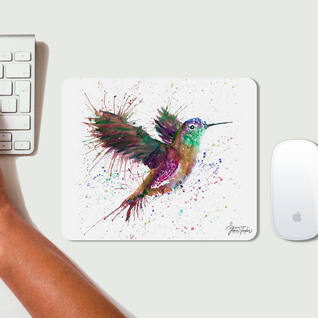 """Susan"" Hummingbird Desk Mousemat"