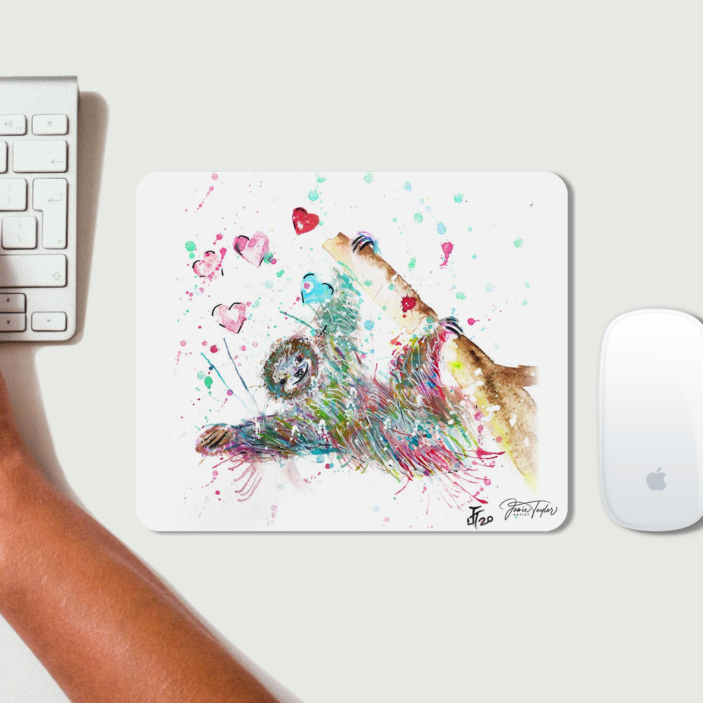 """Hang With Me"" Sloth Desk Mousemat"