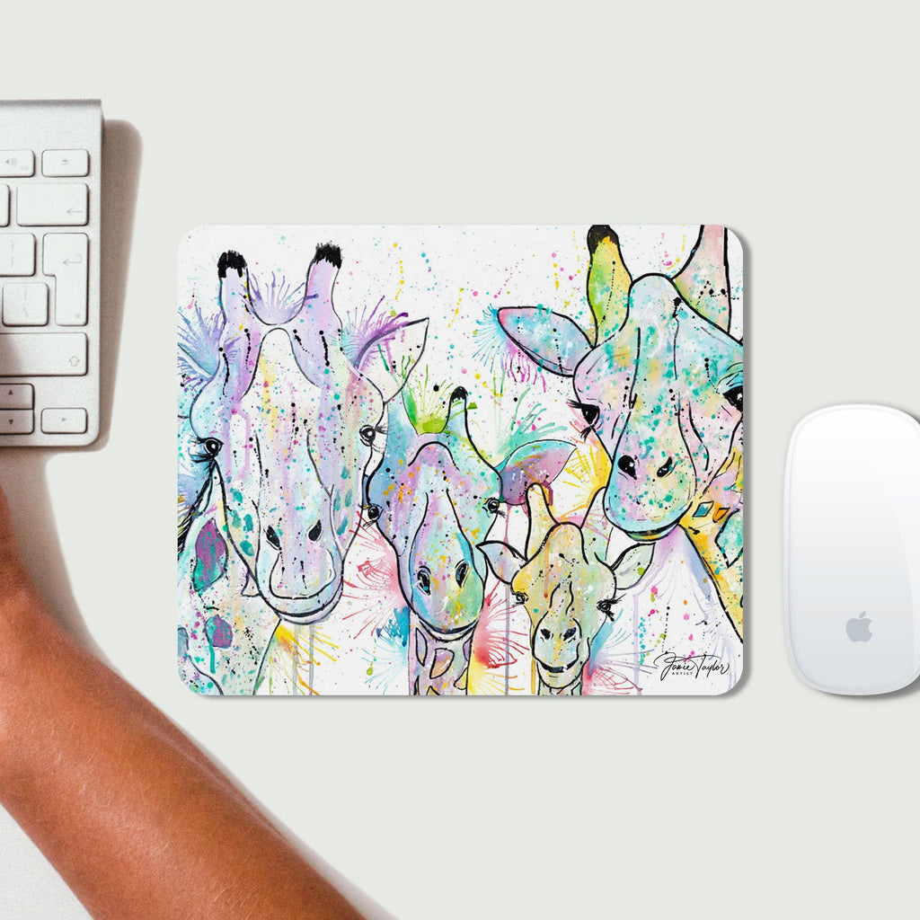 Hello! Giraffes Desk Mousemat