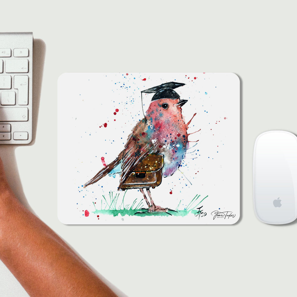 """Teach"" Robin Desk Mousemat"