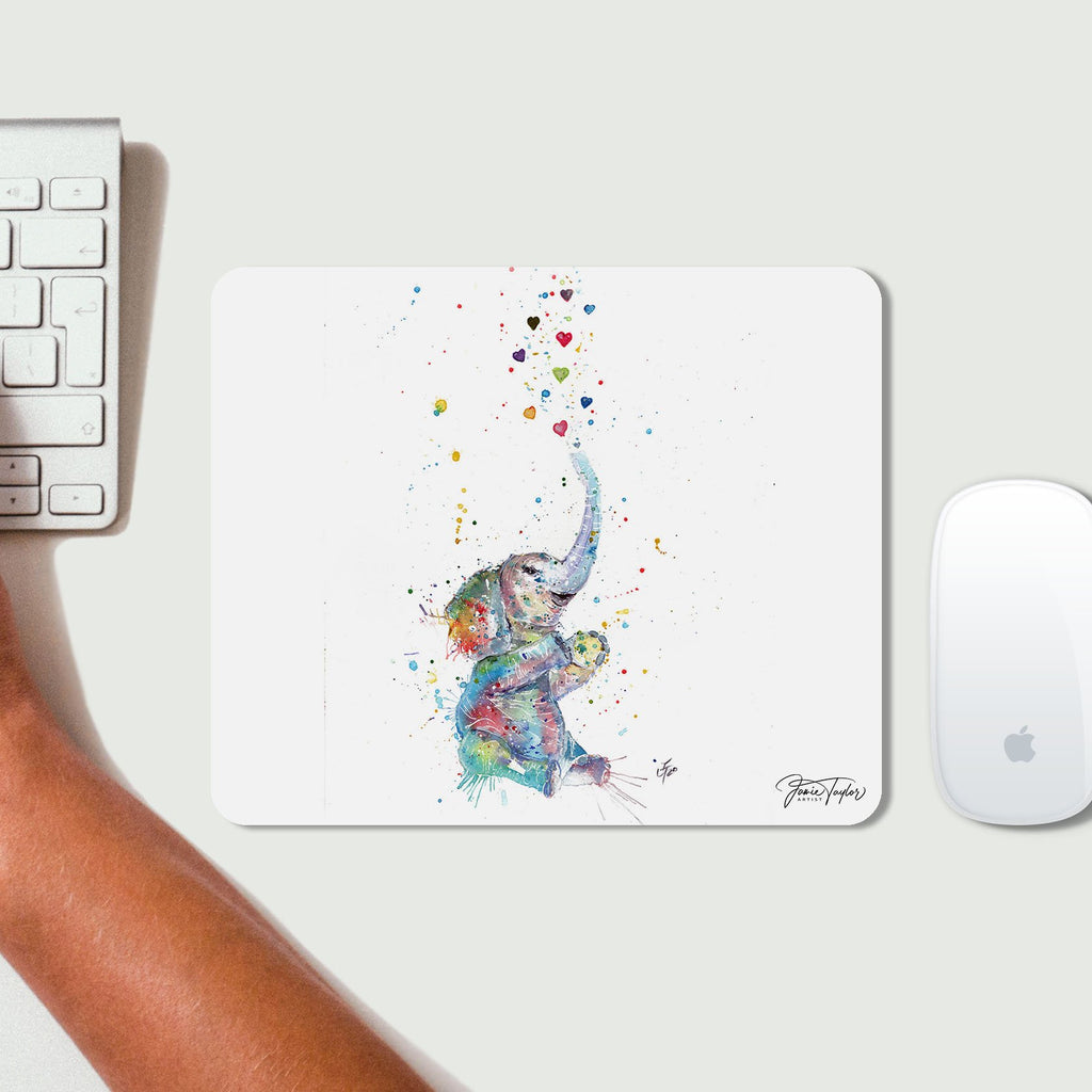 """Effy"" Elephant Desk Mousemat"