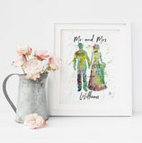 Bride and Groom print, standard, customised hand finished or original