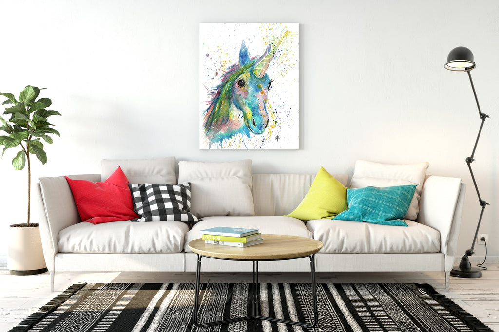 Patty unicorn ready to hang canvas