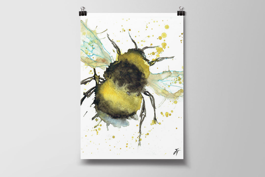 Bumble Bee Art Poster Print