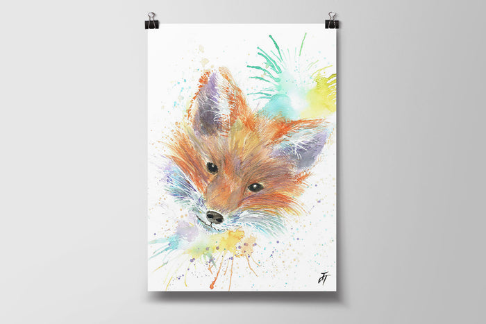 Mr Fox Art Poster Print