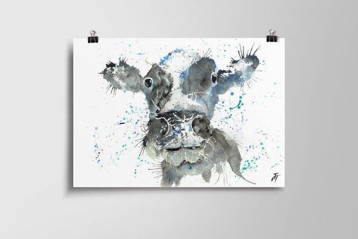 Moo (Cow) Art Poster Print