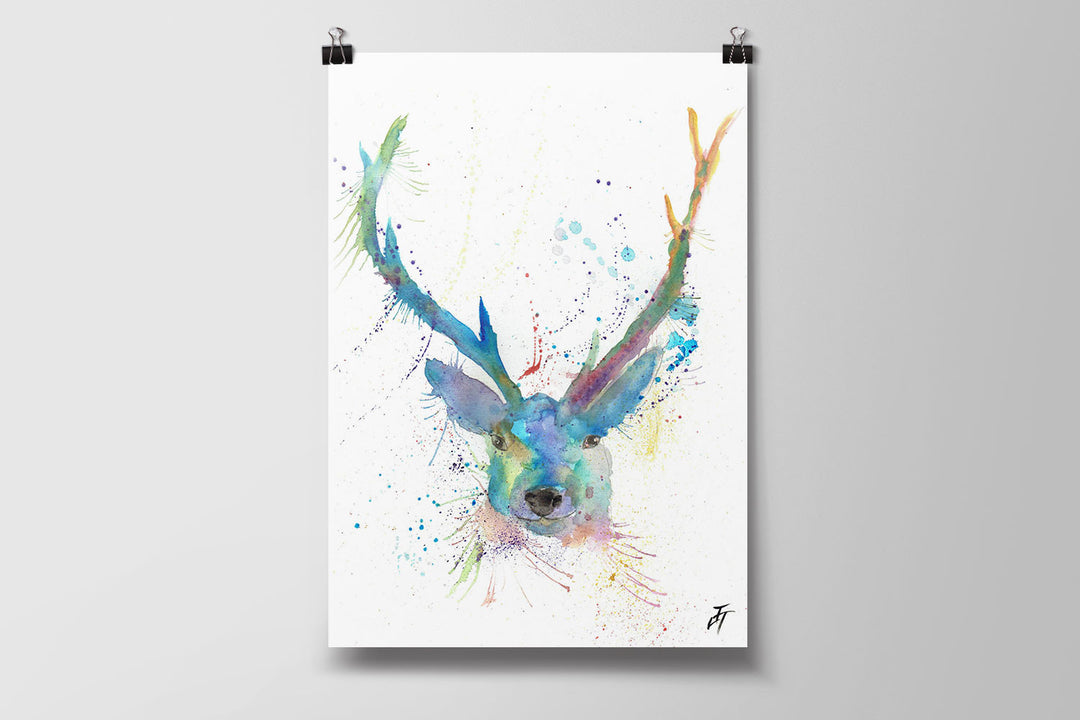 Bruce Stag Art Poster Print