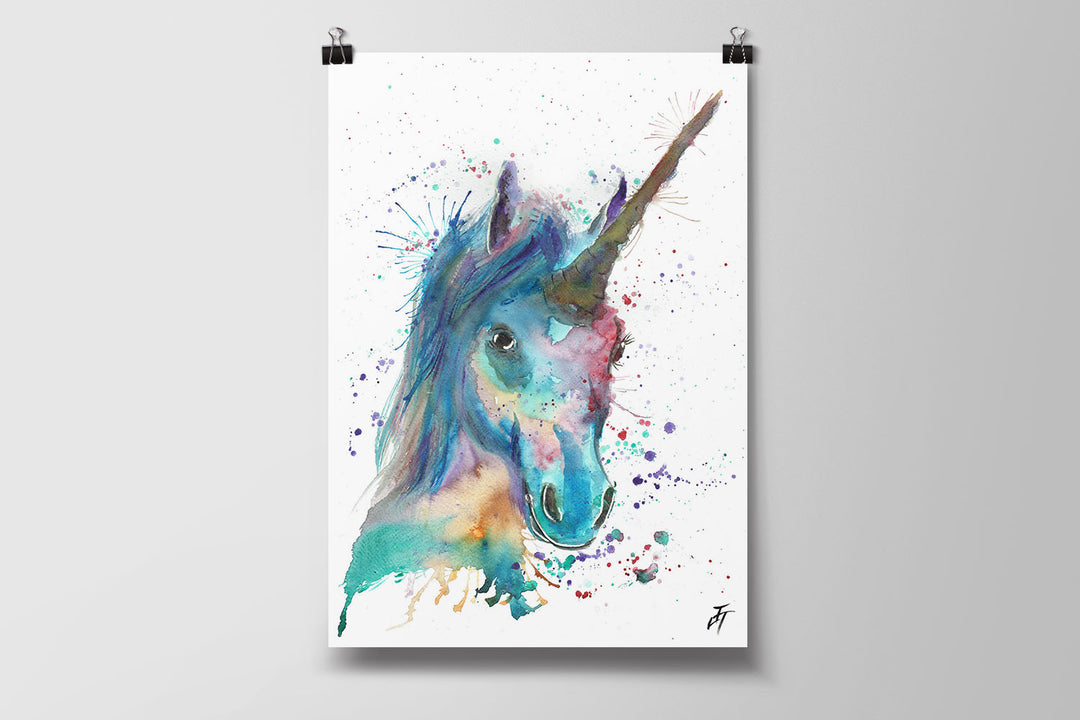 Marge Unicorn Art Poster Print