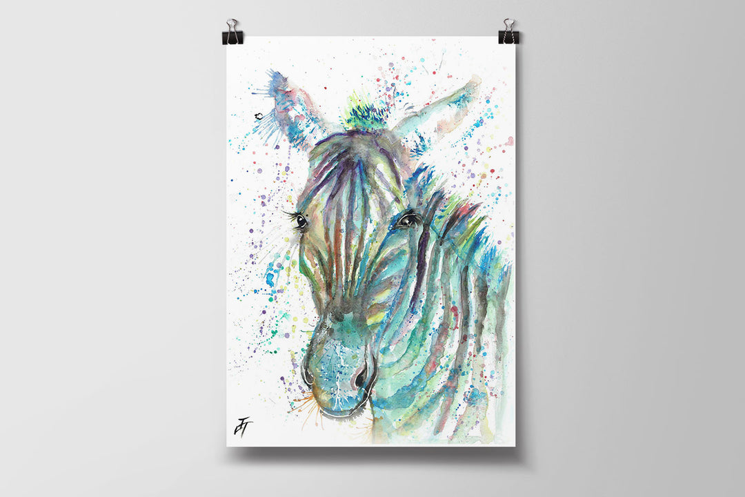 Stripes (Zebra) Art Poster Print