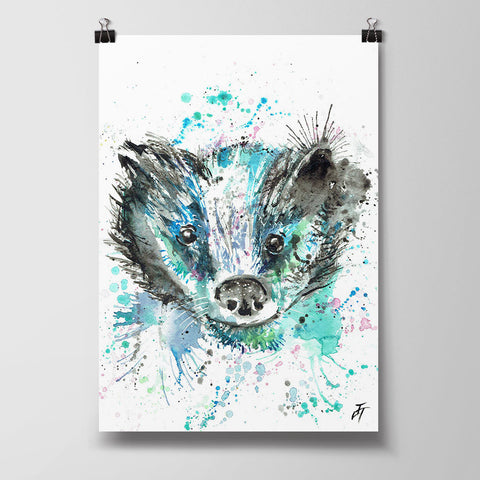 Baz (Badger) Art Poster Print