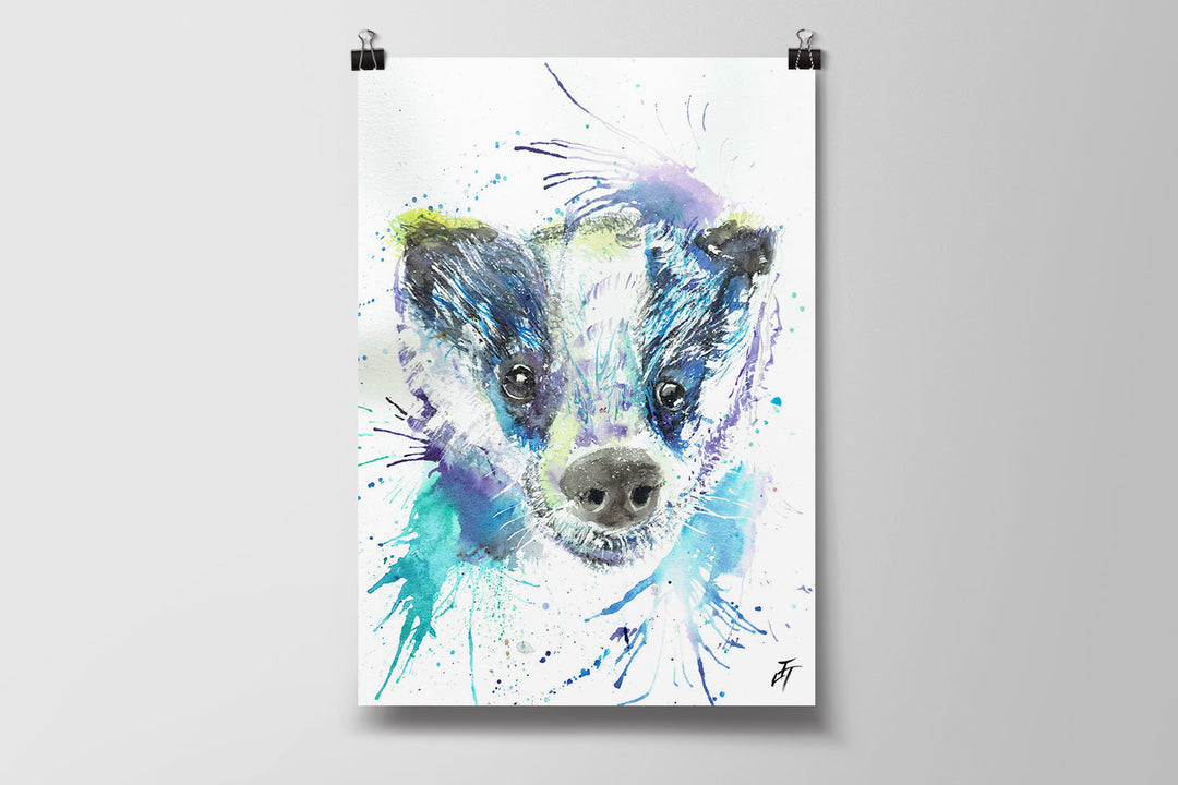 Badge (Badger) Art Poster Print